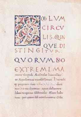 Predictvs Horribilvs Extremima. Latin manuscript by Maternus. A medieval misguided malefic mockery of a horoscope.