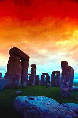 Stonehenge - ancient astrological observatory in England.